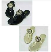 shoes,michael kors,gold,black,mk sandals