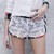 White lace shorts/Short blanc en dentelle.  / Deadcanwear