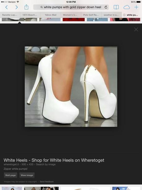 shoes white pumps