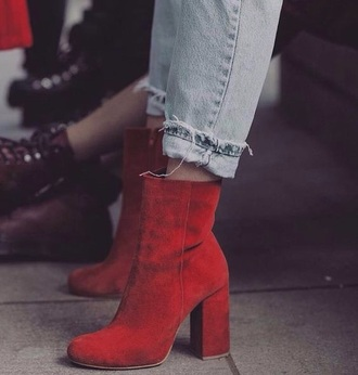 shoes boots red heels