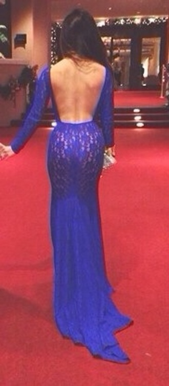 open back long sleeves royal blue prom dress menswear dress blue lace evening dress backless dress prom ball gown dress blue evening dress blue evening gown blue dress evening dress lace dress blue lace dress