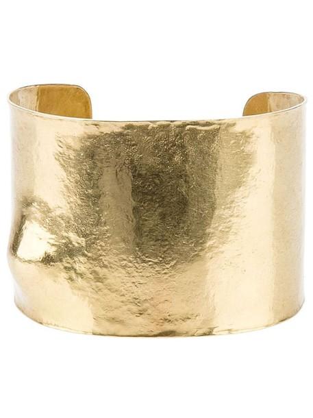 Wouters & Hendrix Gold cuff metallic jewels