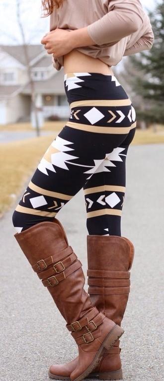 black leggings tribal pattern fashion style tribal leggings tribal aztec print aztec leggings aztec leggins