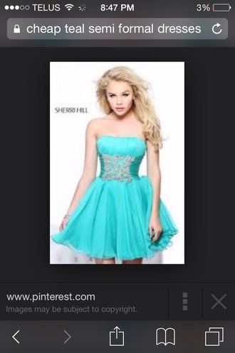 dress blue dress teal dress semi formal junior prom prom dress