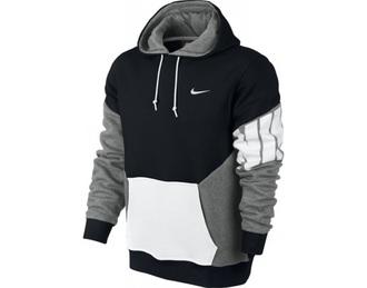 sweater black nike gray white