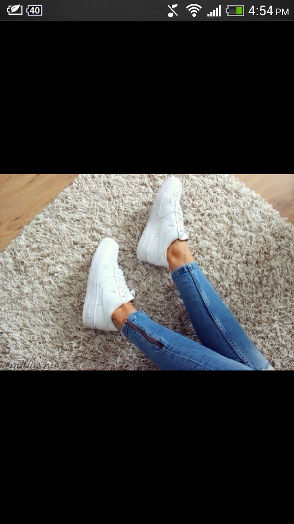 shoes white sneakers white nike nike sneakers sneakers jeans nike free run trainers running sportswear athletic