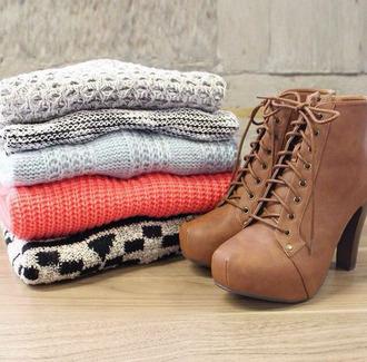 brown shoes heals platform lace up boots shoes