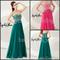 Strapless prom dresses sweetheart beaded fuchsia forest green prom dresses