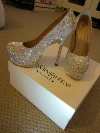 shoes pumps crystal prom pumps prom ysl