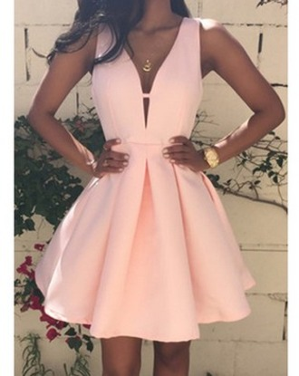 dress pink dress pink gold watch sleeveless skater dress sleeveless dress short dress missguided a line a-line dresses hem pleated top skirt clothes cute dress sexy dress summer dress beautiful fashion girly outfit zaful flare dress soft pink dress