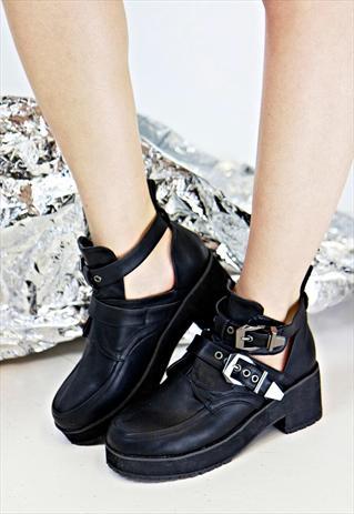90s Silver Buckle Boots | BirdOnAWire | ASOS Marketplace