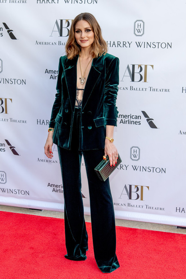 underwear lingerie bodysuit velvet pants blazer suit blogger blogger style clutch olivia palermo jacket