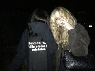 coat black jacket suicidal twin yung lean