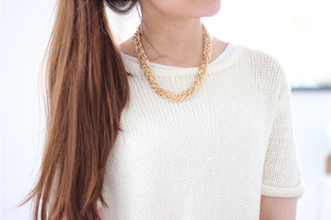 Chunky chain necklace & bracelet · ha