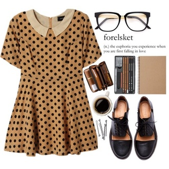 dress indie dots hip chic