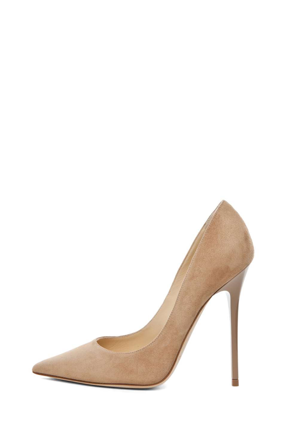Jimmy Choo|Anouk Suede Pump in Nude
