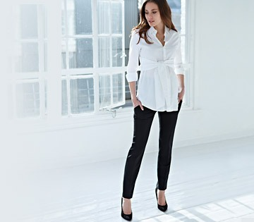 e0a5d6584afd3 For an instant, pulled together look, the classic black maternity suit is  foundational and