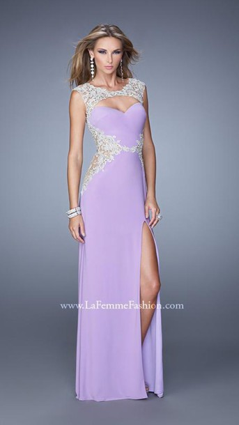dress prom dress lilac long dress