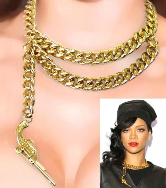 Rihanna Gun Necklace for sale