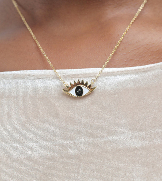 jewels eye gold jewelry necklace cool indie tumblr pretty