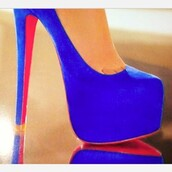 shoes,high heels,heels,blue high heels,red high heels,shoes to kill for,neon blue