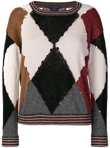 Ballantyne jumper women print silk wool sweater