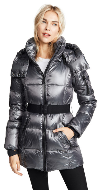 SAM. SAM. Soho Long Down Jacket in anthracite