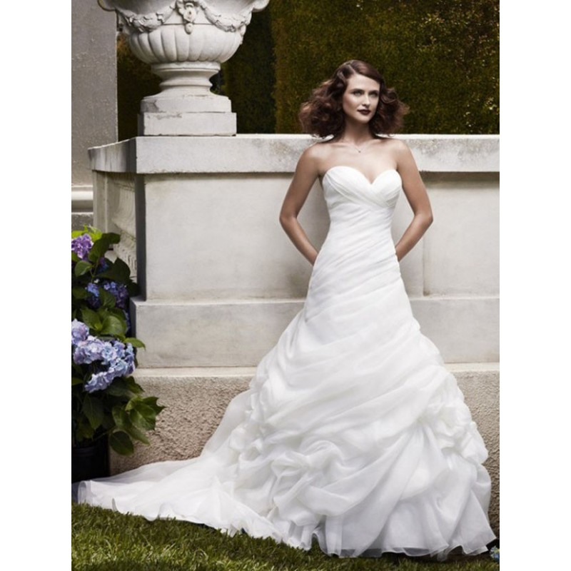 Casablanca bridal 2064 wedding full skirt long for Full skirt wedding dress
