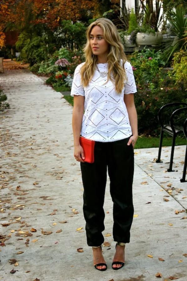 a fashion love affair t-shirt pants bag jewels shoes