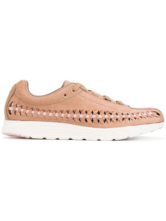 women sneakers nude suede shoes