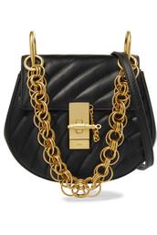 mini,quilted,bag,shoulder bag,leather,black