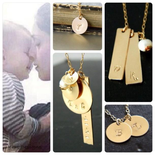 jewels gold jewelry gold necklace handmade necklace personalized name personalized initial personalized monogram etsy sale etsy shop
