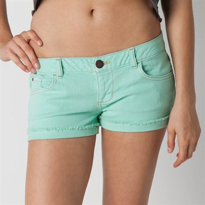 Neill Kisses Juniors Denim Shorts - Beach Glass