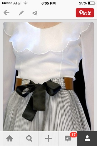 blouse white ruffles sheer scalloped white blouse