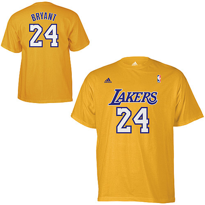 adidas Los Angeles Lakers Kobe Bryant Game Time T-Shirt