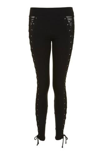 leggings lace black pants