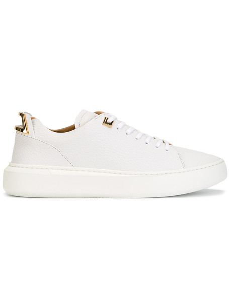 Buscemi women sneakers lace leather white shoes