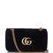 Gg marmont chevron-velvet cross-body bag | gucci | matchesfashion.com us