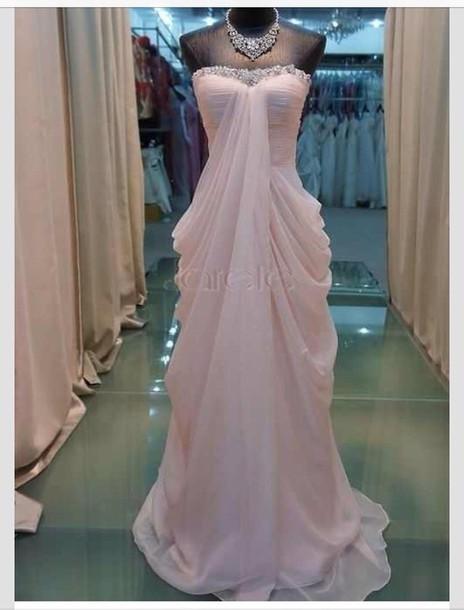 dress pink dress long prom dress prom dress wedding dress