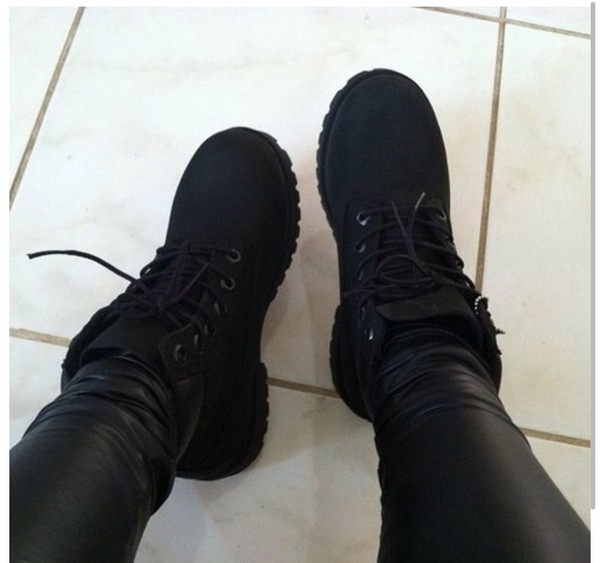 shoes timberland black boots