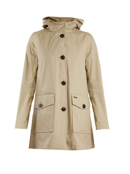 WOOLRICH JOHN RICH & BROS. coat cotton beige