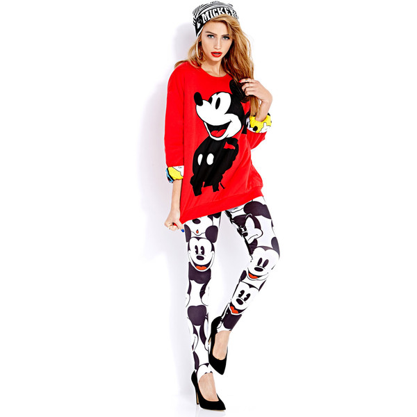 Happy Mickey Reversible Sweatshirt - Polyvore