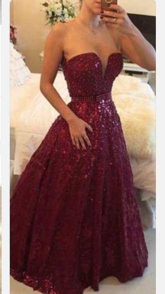 dress red dress aline dress a-line dresses prom dress beaded dress sleeveless dress sweetheart dresses floor length dress