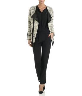 Manteau oversize tweed Blanc GAT RIMON FEMME - Boutique en ligne GAT RIMON - Collection Automne Hiver 2013/2014 - Place des Tendances.