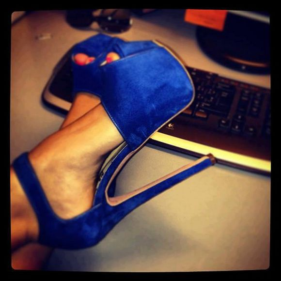 high heels shoes cute high heels blue high heels royal blue heels open toe pumps