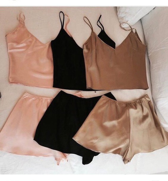 8a9b036c2848 pajamas beautiful top pants love chlothes pretty nude pink black dress black  girl colorful brand instagtam