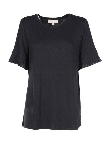 t-shirt shirt t-shirt pleated black top