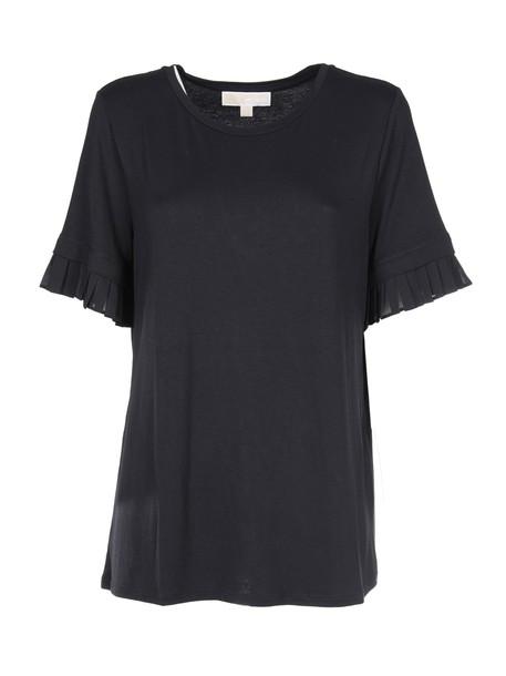 MICHAEL Michael Kors t-shirt shirt t-shirt pleated black top