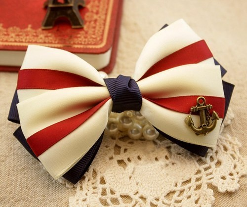 shego shopping mall — [grdx02034]Nice Anchor Hair Bow for lady