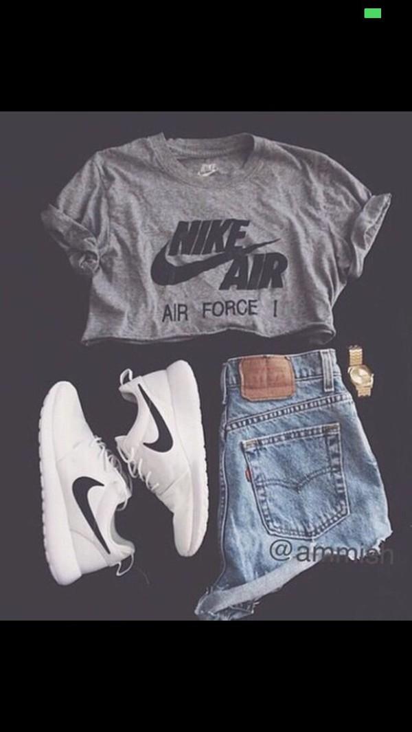 shoes nike running shoes shirt